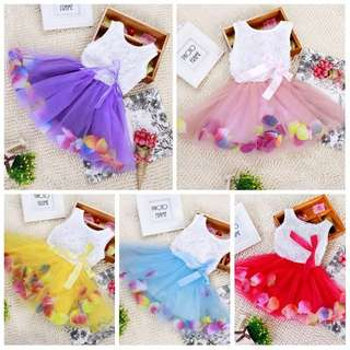 Ready Stock - Baby Gaun / Dresses (Roses Tutu) - Clearance Offer!!