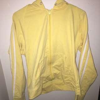 Yellow Zip Up Sweater