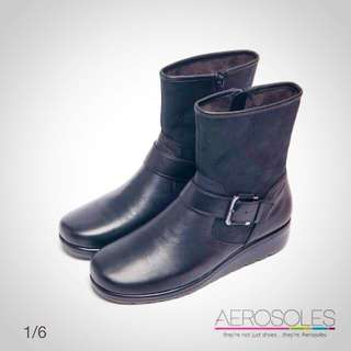 AEROSOLES 拼接金屬釦帶 短靴