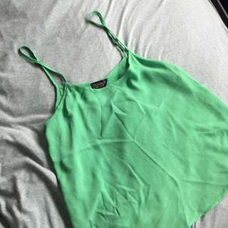 [TOPSHOP] Green Swing Camisole Top