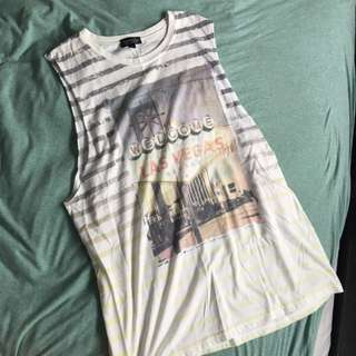 [TOPSHOP] Printed Sleevless Dress Top