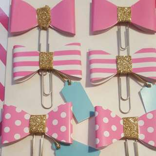 Handmade Bow Paperclips
