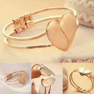 Beautiful Heart Cuff Bracelet