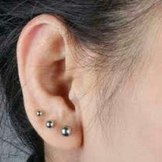 Earrings 3 Studs