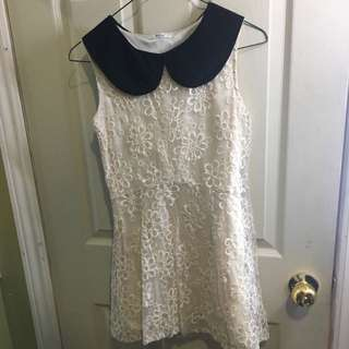 cream laced dress