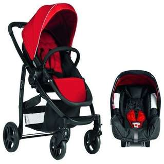 Graco Stroller & Baby Car Seat : Evo Travel System (RED COLOUR)
