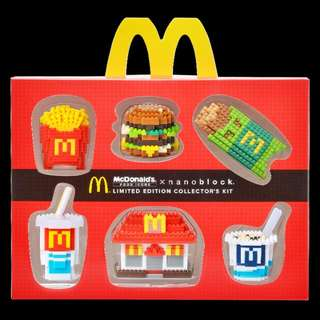 McDonald's X nanoblock LIMITED EDITION COLLECTABLE SETS