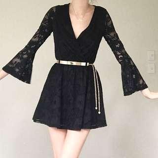 Ice Black Lace Dress