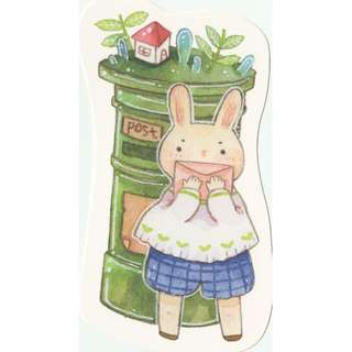 Forest Animal Mailbox Postbox Postcard (Bunny Rabbit)