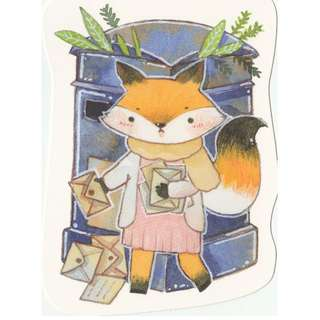 Forest Animal Mailbox Postbox Postcard (Fox)