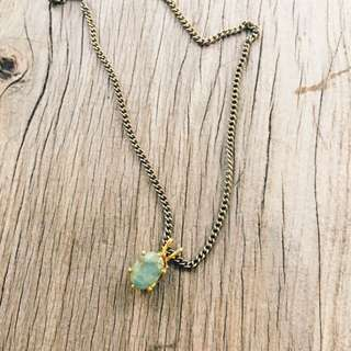 Vintage Jade Pendant Necklace