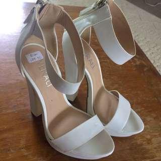 White VERALI platform Heels
