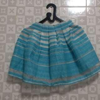 Blue White Skirt