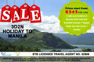 3D2N HOLIDAY TO MANILA