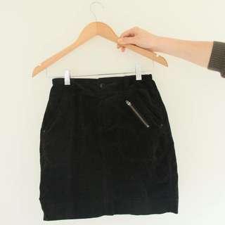Velvet Zip Skirt