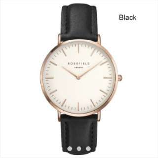 The Fifth Watch Leather Simple Women Quartz Analog Band