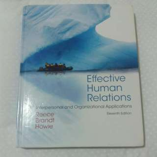 AUT Effective Human Relations TEXTBOOK