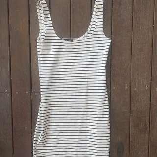 Bardot Size 8 Stripe dress
