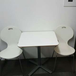 Almost New White table and Designer chair