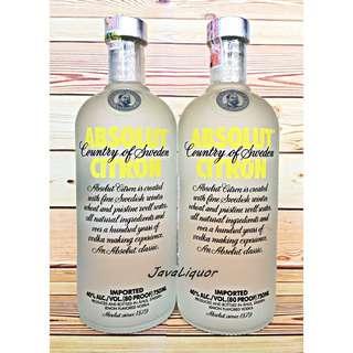 Absolut Citron Flavour Sweden Vodka ORIGINAL 100%