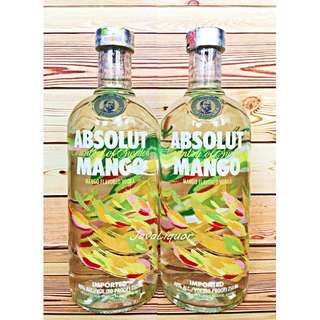 Absolut Mango Flavour Sweden Vodka ORIGINAL 100%