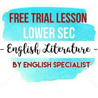 English Literature - FREE TRIAL LESSON