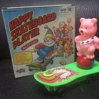 懷舊玩具 滑板熊人