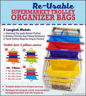 Keranjang Belanja Troli Organizer Reusable