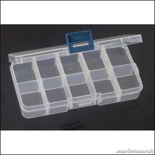 Box Transparant 12.8 X 5 X 2.2Cm 10Grid