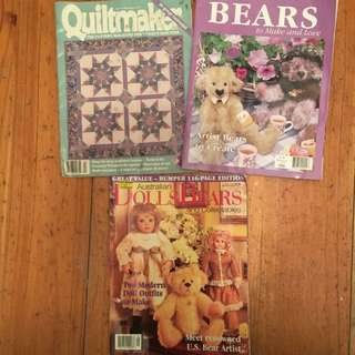 Bulk Lot Of 3 Craft Magazines