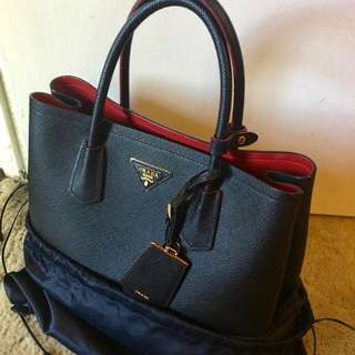 AUTHENTIC Prada Saffiano Cuir Double Bag