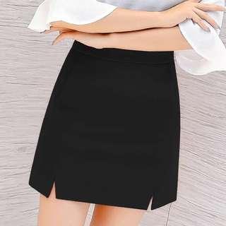 高腰修身顯瘦A字短裙