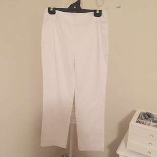 Regatta High Waisted White Pants Size 8