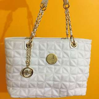 Colours White And Gold Handbag