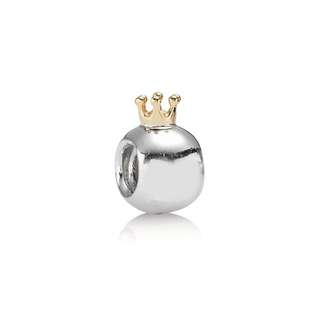 PANDORA 14ct Gold And silver Crown Charm