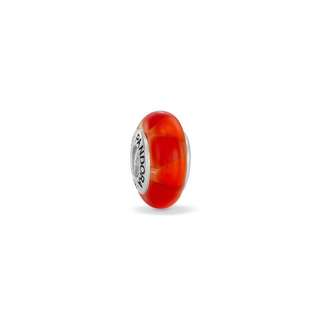 2 x PANDORA Red Hot Murano Glass Beads