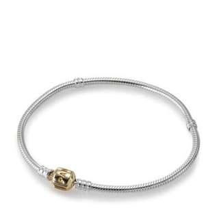 PANDORA Two Tone - Gold & Silver Charm Bracelet