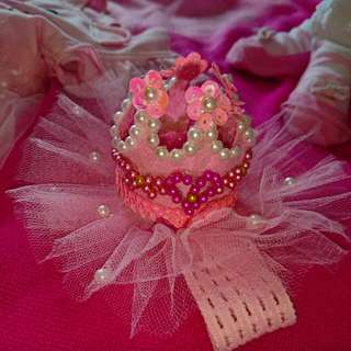 Pink Tutu Crown Head Dress (for Baby)