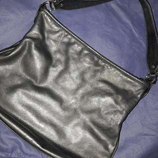 Etienne Aigner Black Leather Shoulder Bag
