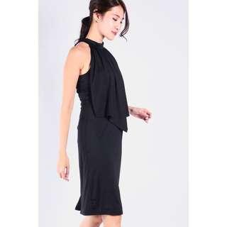 BNWT DSB Dual Layered Front Dress (black)