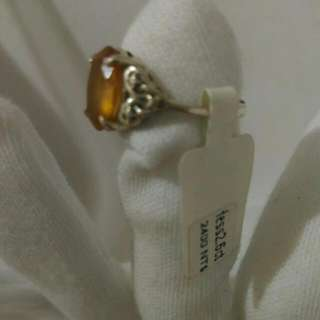 2.6 ct Hessonite Solid 925 Silver Ring