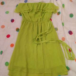 Cooper St 8 Lime Chiffon Dress