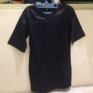 Zalora Black Leatherdress