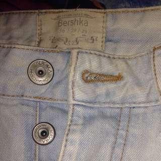 Bershka Ripped Jeans Light Blue #jatuhharga