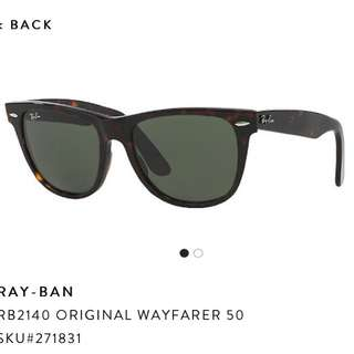 Authentic Ray Ban Wayfarer Tortoiseshell Sunglasses