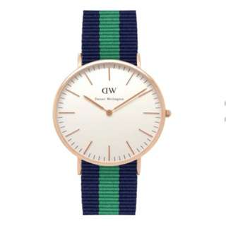 DW Daniel Wellington Men's Classic Warwick 40mm Gold Watch With 3 Straps!