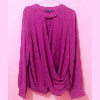 Ro&De purple blouse