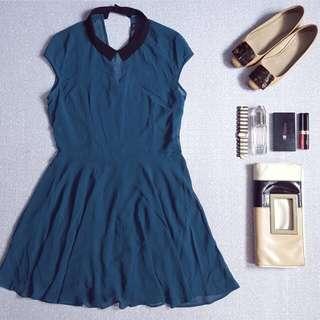 Bershka Chiffon Dress With Inner Lining