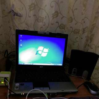Rush!rush!rush Sale!!!  Acer 15.6inch2gb Ram Hdd160 Comes With Charger Mouse Plus Free Speaker !!dvd Rom  Dual Core
