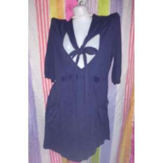 Blue Formal Dress with bow